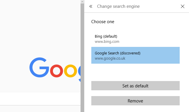 edge search engine google