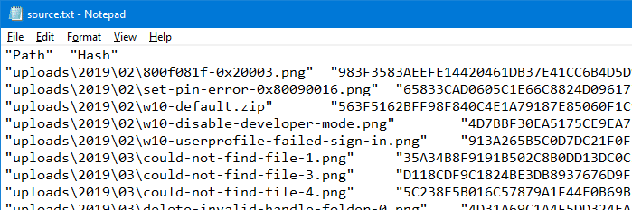 compare folders using powershell hash