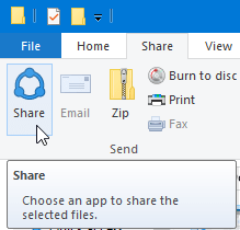 share or attach files to mail app