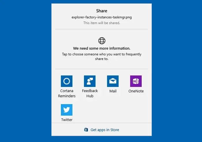 Modern Share UI