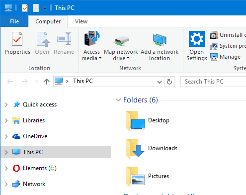 move libraries to top - windows 10