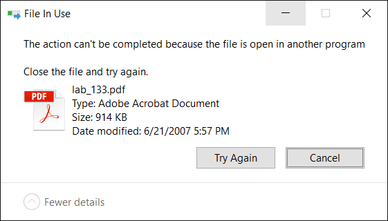 Find Which Process Has Locked a File Without 3rd Party Tools