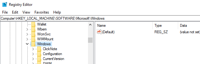 regedit address bar windows 10