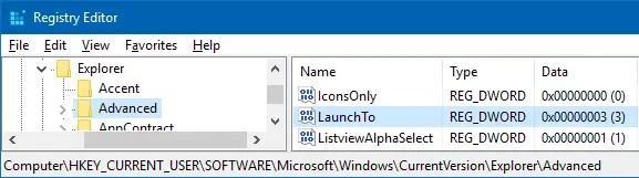 How to Change File Explorer Default Start Folder in Windows 10