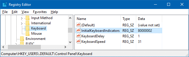 enable numlock on the login screen