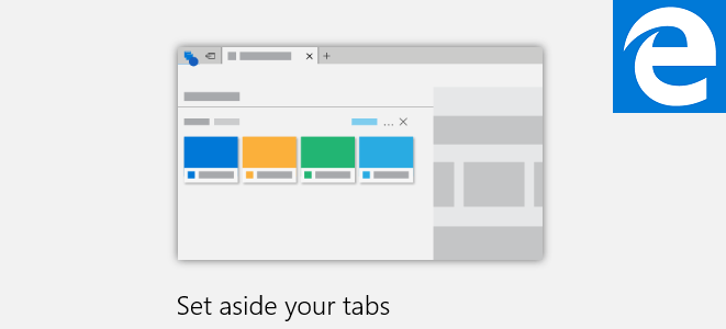 set aside tabs in edge
