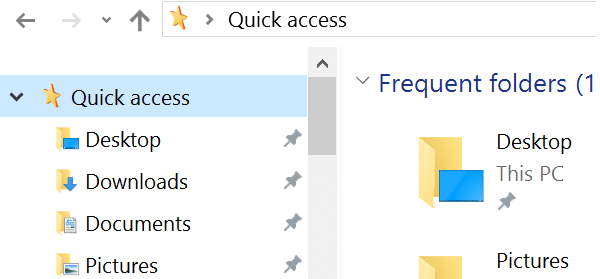 customize quick access icon