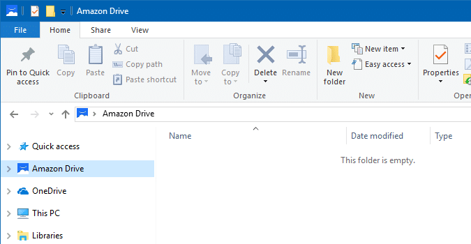 amazon drive remove from explorer navigation pane