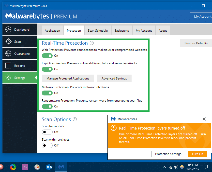 malwarebytes real-time protection layers