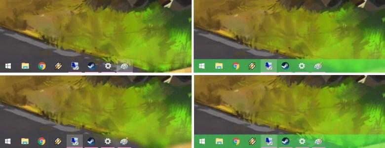 make taskbar fully transparent or translucent