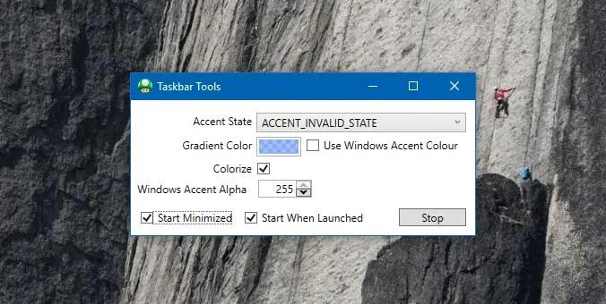 Make Taskbar Translucent or Fully Transparent in Windows 10