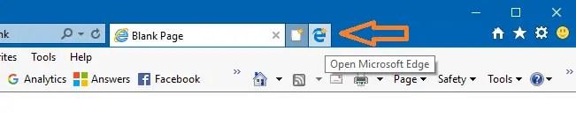 edge button near new tab button internet explorer