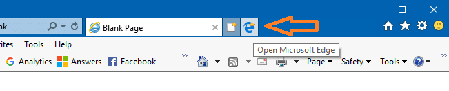 edge button  near new tab button internet explorer