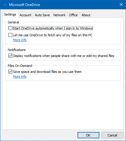 thumbnail previews do not appear on onedrive folders - files on-demand settings tab