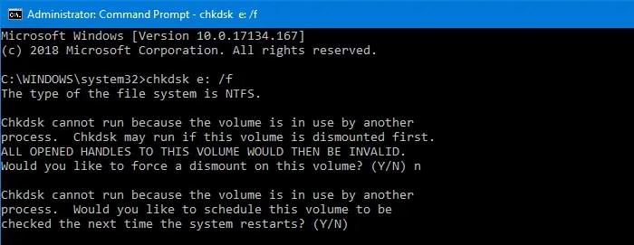 chkdsk repair drive