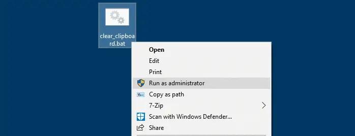batch file run as administrator