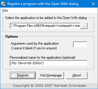 cannot add program to open with menu in windows [OpenWithAdd utility]