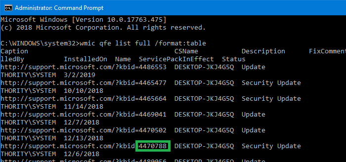 Check if a Windows Update KB is Installed