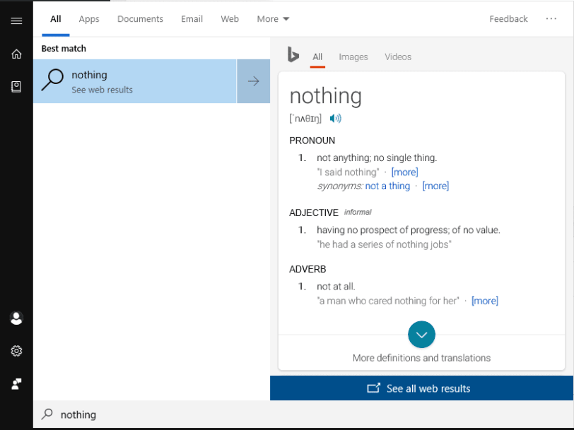 Fix: Start Menu Cortana Search Not Finding Apps - Search