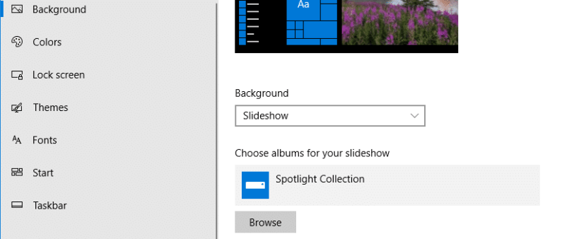 Use Windows Spotlight as Desktop Wallpaper Slideshow
