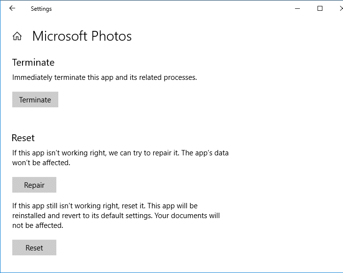 Package could not be registered - photos app