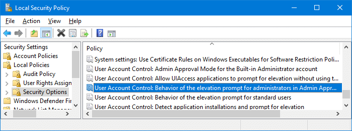 UAC asks for password even if logged in as an administrator
