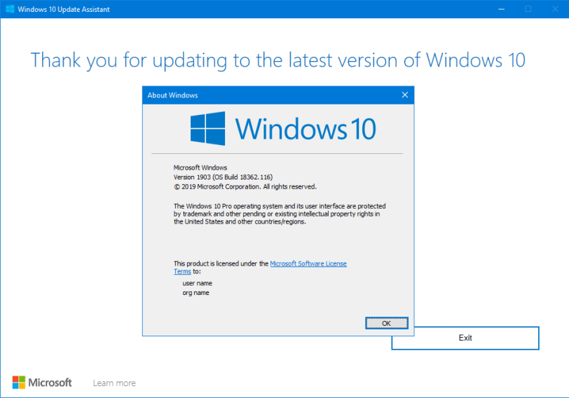 windows 10 v1903 is available now