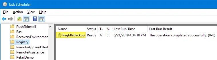 RegIdleBackup - Registry Idle Backup Task - Scheduler Registry Backup