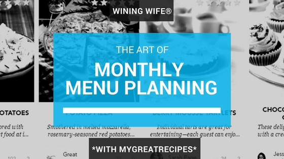 MyGreatRecipes Monthly Meal Plan