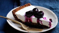 Yogurt Pie with Grape and Black Pepper Compote