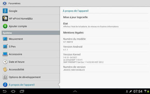 android jelly bean samsung galaxy note 10.1