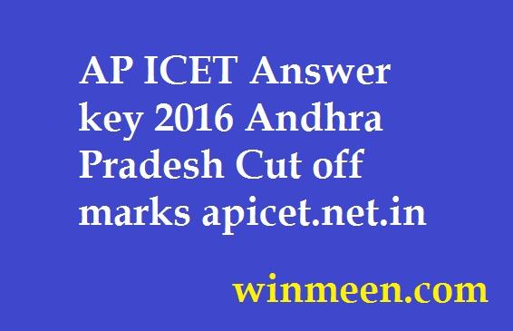 AP ICET Answer key 2016 Andhra Pradesh Cut off marks apicet.net.in