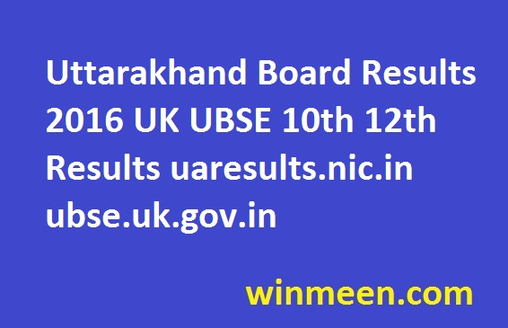 Uttarakhand Board Results 2016 UK UBSE 10th 12th Results