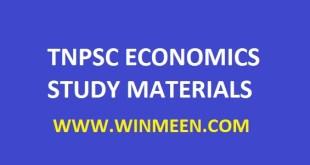 TNPSC ECONOMICS STUDY MATERIALS