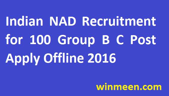 Indian Navy Armament Depot Vishakhapatnam for 100 Group B C Post Recruitment Apply Offline