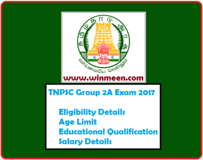 TNPSC Group 2A Exam Eligibility Age Limit Educational Qualification Salary Details