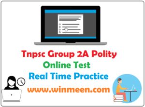 Tnpsc Group 2A Polity Online Mock Test 4