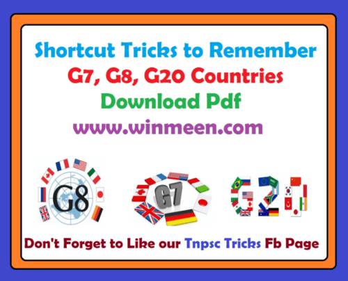 Shortcut Tricks to Remember G7 G8 G20 Countries