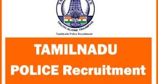 Tamilnadu Police Recruitment 2017 - 2018 SI PC Constable Jobs