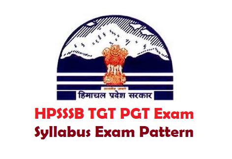HPSSSB TGT PGT Syllabus Exam Pattern