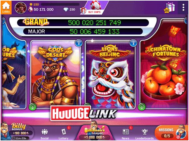 Billionaire casino slot games