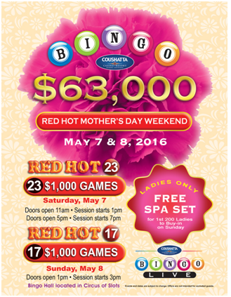 Bingo Red Hot Mother Day