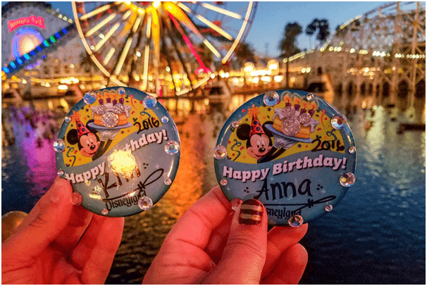 Celebration Buttons at Disney World