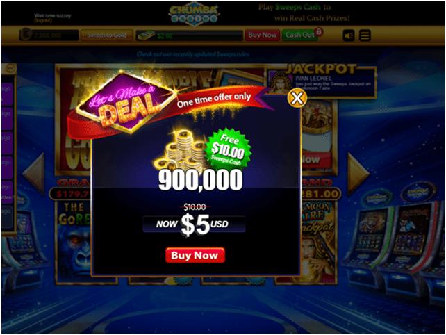 Chumba Casino Get free sweeps