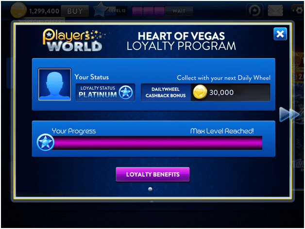 Heart  of Vegas Loyalty Program