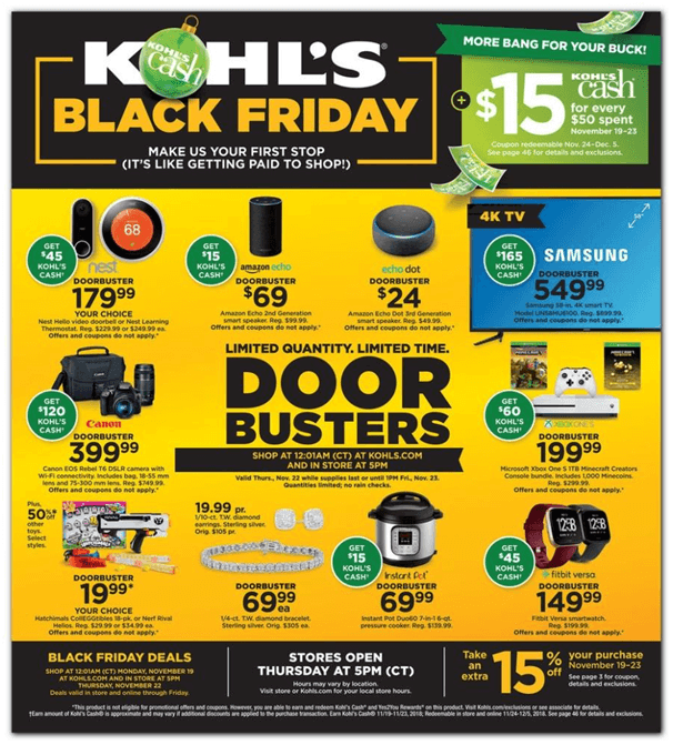 Deals at Kohl's store