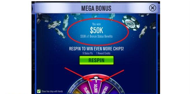 Mega Bonus Wheel- Free chips