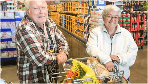 Senior citizen discount at grocery