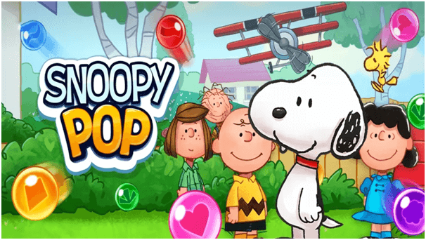 Snoopy Pop the game features