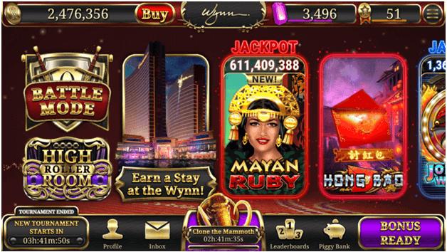 Slot machines at Wynn app